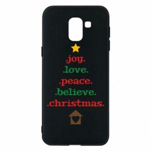 Etui na Samsung J6 Joy. Love. Peace. Believe. Christmas.