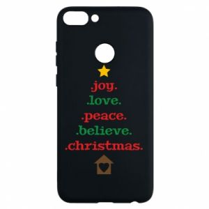 Huawei P Smart Case Joy. Love. Peace. Believe. Christmas.