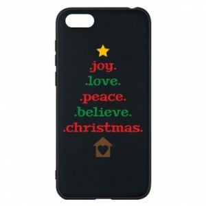 Etui na Huawei Y5 2018 Joy. Love. Peace. Believe. Christmas.