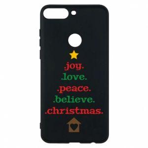 Etui na Huawei Y7 Prime 2018 Joy. Love. Peace. Believe. Christmas.