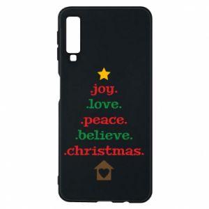 Etui na Samsung A7 2018 Joy. Love. Peace. Believe. Christmas.