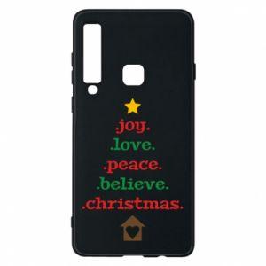 Etui na Samsung A9 2018 Joy. Love. Peace. Believe. Christmas.