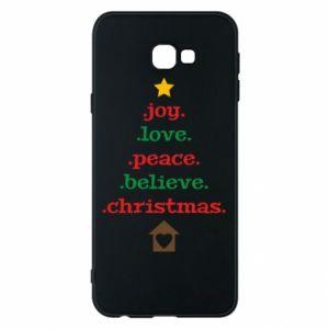 Etui na Samsung J4 Plus 2018 Joy. Love. Peace. Believe. Christmas.
