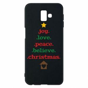 Etui na Samsung J6 Plus 2018 Joy. Love. Peace. Believe. Christmas.