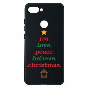 Etui na Xiaomi Mi8 Lite Joy. Love. Peace. Believe. Christmas.