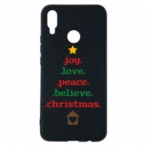 Etui na Huawei P Smart Plus Joy. Love. Peace. Believe. Christmas.