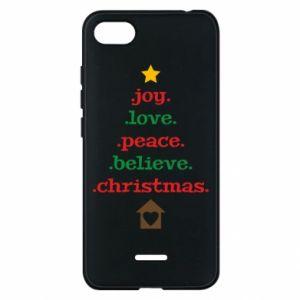 Etui na Xiaomi Redmi 6A Joy. Love. Peace. Believe. Christmas.