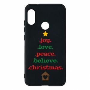 Etui na Mi A2 Lite Joy. Love. Peace. Believe. Christmas.