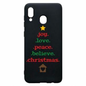 Etui na Samsung A30 Joy. Love. Peace. Believe. Christmas.