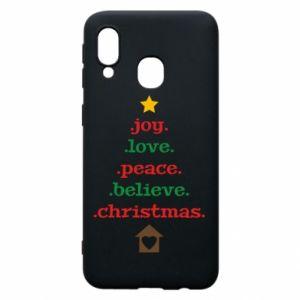 Etui na Samsung A40 Joy. Love. Peace. Believe. Christmas.