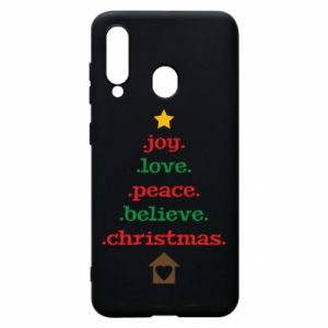 Etui na Samsung A60 Joy. Love. Peace. Believe. Christmas.