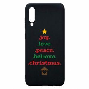 Etui na Samsung A70 Joy. Love. Peace. Believe. Christmas.