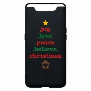 Etui na Samsung A80 Joy. Love. Peace. Believe. Christmas.