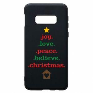 Etui na Samsung S10e Joy. Love. Peace. Believe. Christmas.