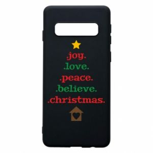 Etui na Samsung S10 Joy. Love. Peace. Believe. Christmas.