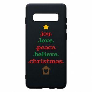 Etui na Samsung S10+ Joy. Love. Peace. Believe. Christmas.