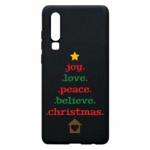 Etui na Huawei P30 Joy. Love. Peace. Believe. Christmas.