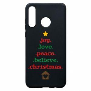 Etui na Huawei P30 Lite Joy. Love. Peace. Believe. Christmas.