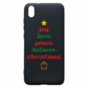 Etui na Xiaomi Redmi 7A Joy. Love. Peace. Believe. Christmas.