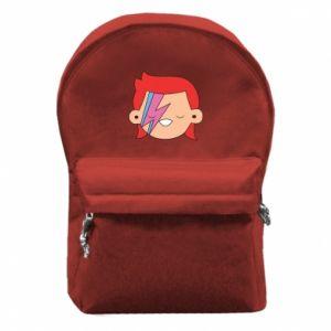 Backpack with front pocket Joyful David Bowie - PrintSalon