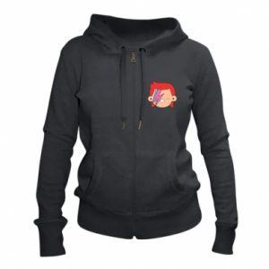 Women's zip up hoodies Joyful David Bowie - PrintSalon