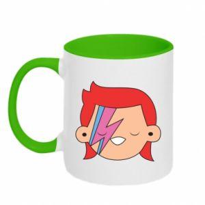 Two-toned mug Joyful David Bowie - PrintSalon