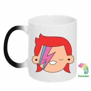 Chameleon mugs Joyful David Bowie - PrintSalon