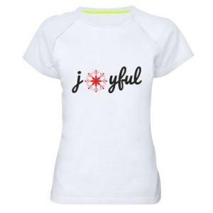 Koszulka sportowa damska Joyful