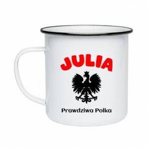 Kubek emaliowane Julia jest prawdziwą Polką