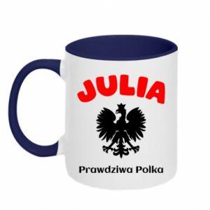 Kubek dwukolorowy Julia jest prawdziwą Polką