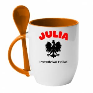 Kubek z ceramiczną łyżeczką Julia jest prawdziwą Polką