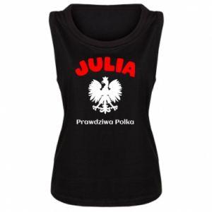 Damska koszulka bez rękawów Julia jest prawdziwą Polką