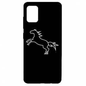 Etui na Samsung A51 Jumping horse