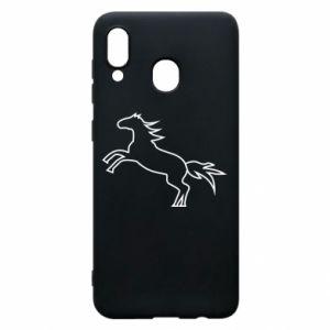 Etui na Samsung A20 Jumping horse