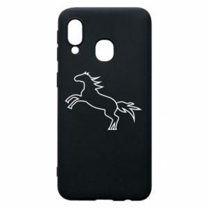 Etui na Samsung A40 Jumping horse