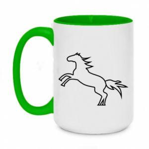 Kubek dwukolorowy 450ml Jumping horse
