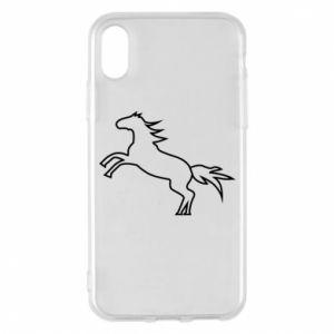 Etui na iPhone X/Xs Jumping horse