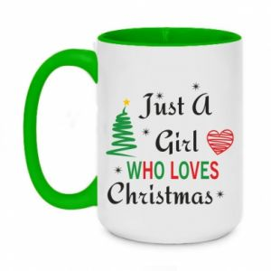 Kubek dwukolorowy 450ml Just a girl who love Christmas