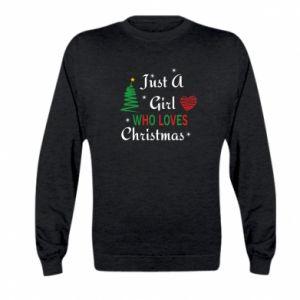 Bluza dziecięca Just a girl who love Christmas