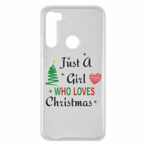 Etui na Xiaomi Redmi Note 8 Just a girl who love Christmas