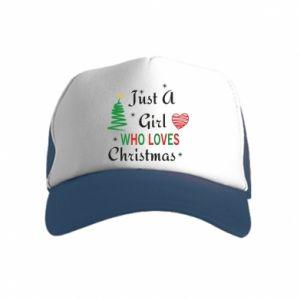 Czapka trucker dziecięca Just a girl who love Christmas
