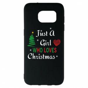 Etui na Samsung S7 EDGE Just a girl who love Christmas