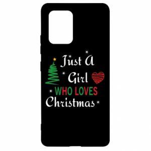 Etui na Samsung S10 Lite Just a girl who love Christmas