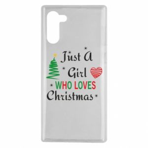 Etui na Samsung Note 10 Just a girl who love Christmas