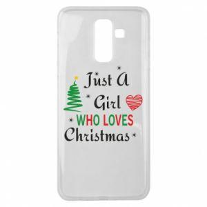 Etui na Samsung J8 2018 Just a girl who love Christmas