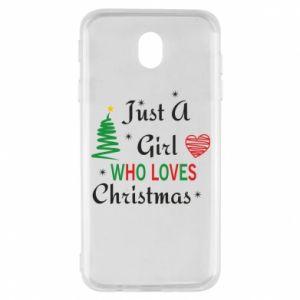 Etui na Samsung J7 2017 Just a girl who love Christmas