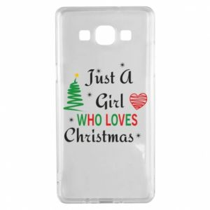 Etui na Samsung A5 2015 Just a girl who love Christmas