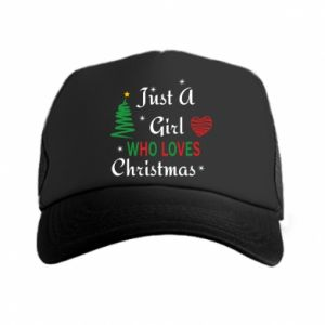 Czapka trucker Just a girl who love Christmas