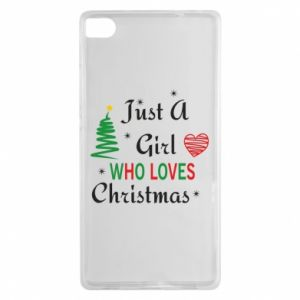 Etui na Huawei P8 Just a girl who love Christmas