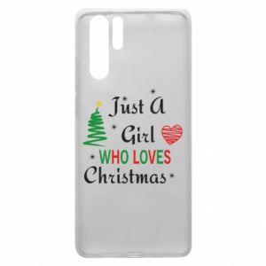 Etui na Huawei P30 Pro Just a girl who love Christmas
